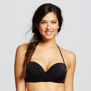 Shade & Shore | Black Summer Halter Bikini Top
